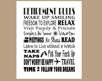 Retirement Subway Art, Retirement Gift, Retiree Gift, Thank You Gift, ***Instant Download ****