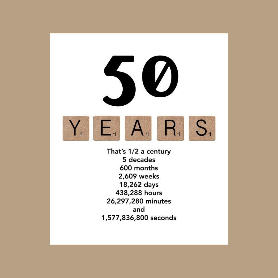 50th Birthday Card Milestone Birthday Card Decade Birthday