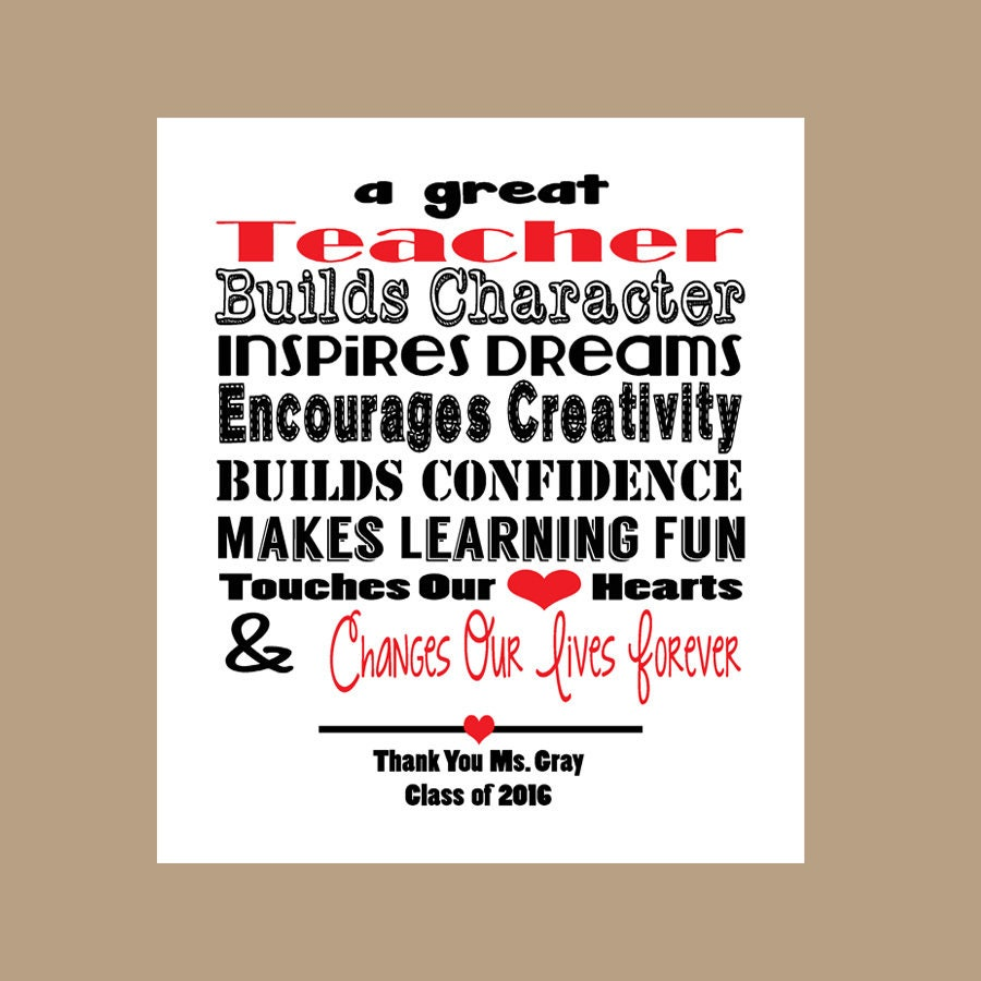 Lehrer-Geschenk Lehrer Druck druckbare Lehrer Lehrer | Etsy