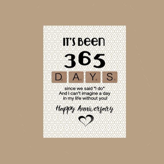 1st Anniversary Card 1st Wedding Anniversary Card Paper Etsy