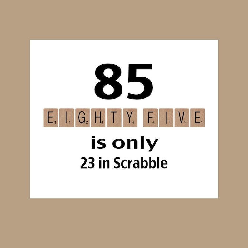 85th Birthday Card Milestone The Big