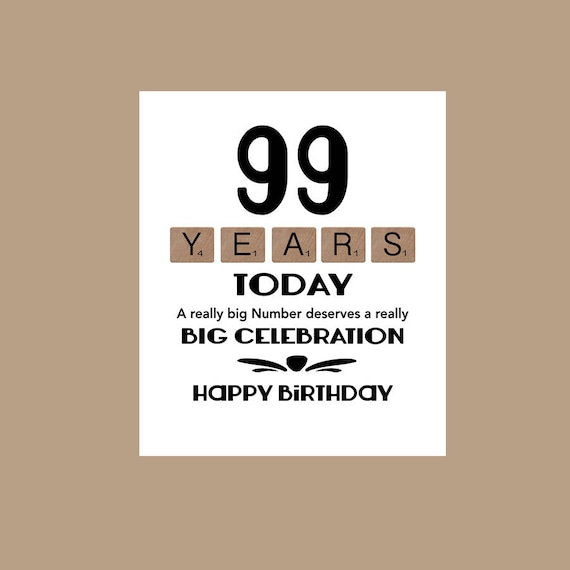 99th Birthday Card 1919 Milestone