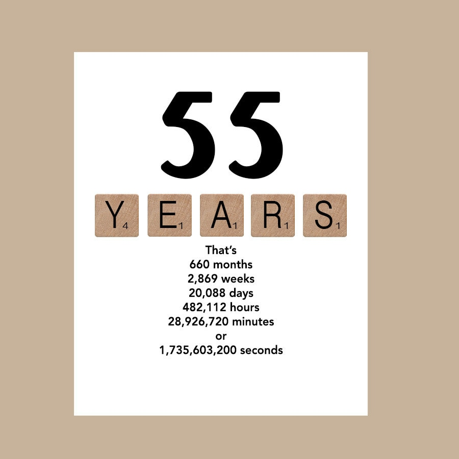 55th Birthday Card Milestone 1962