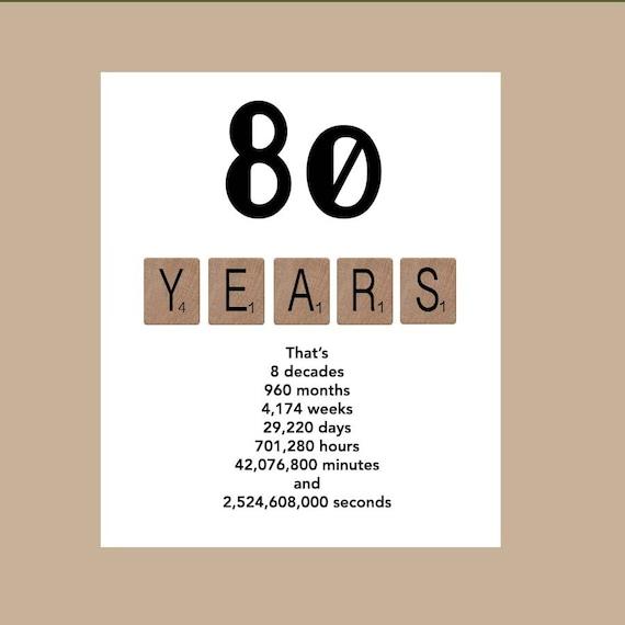 80th Birthday Card Milestone Birthday Card The Big 80 1938 Etsy