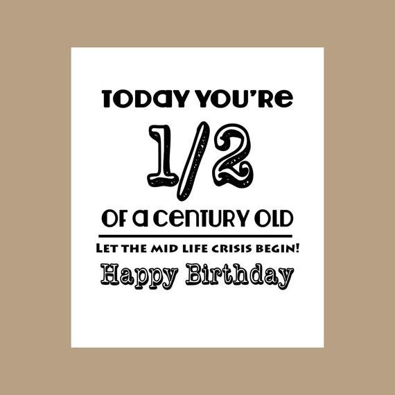 50th Birthday Card 12 Century Old Card Milestone Card 1967 Etsy
