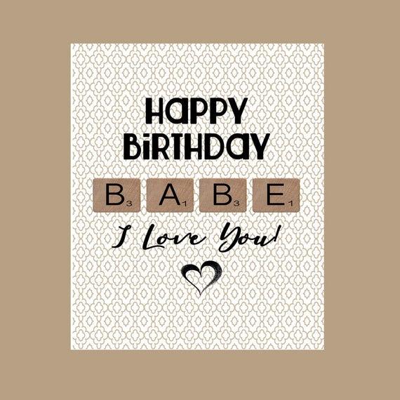 Babe Birthday Card Husband Birthday Card Sexy Birthday Card Etsy