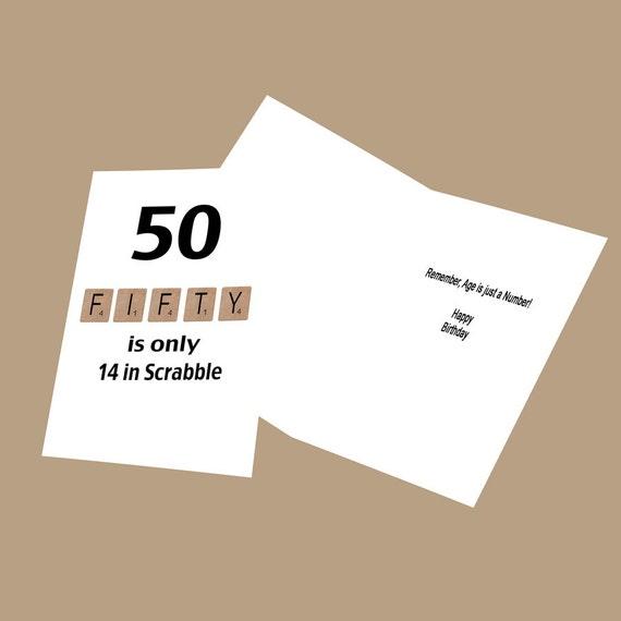 50th Birthday Card Milestone Birthday Funny Birthday Card
