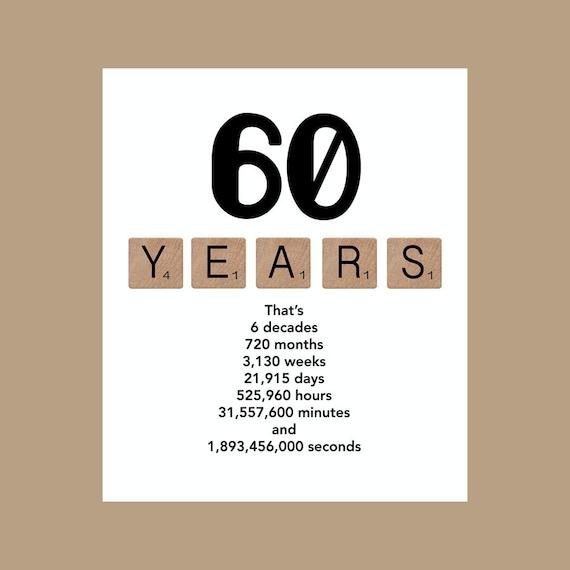 Beste 60ste verjaardag Card mijlpaal verjaardagskaart de grote 60 | Etsy UC-74