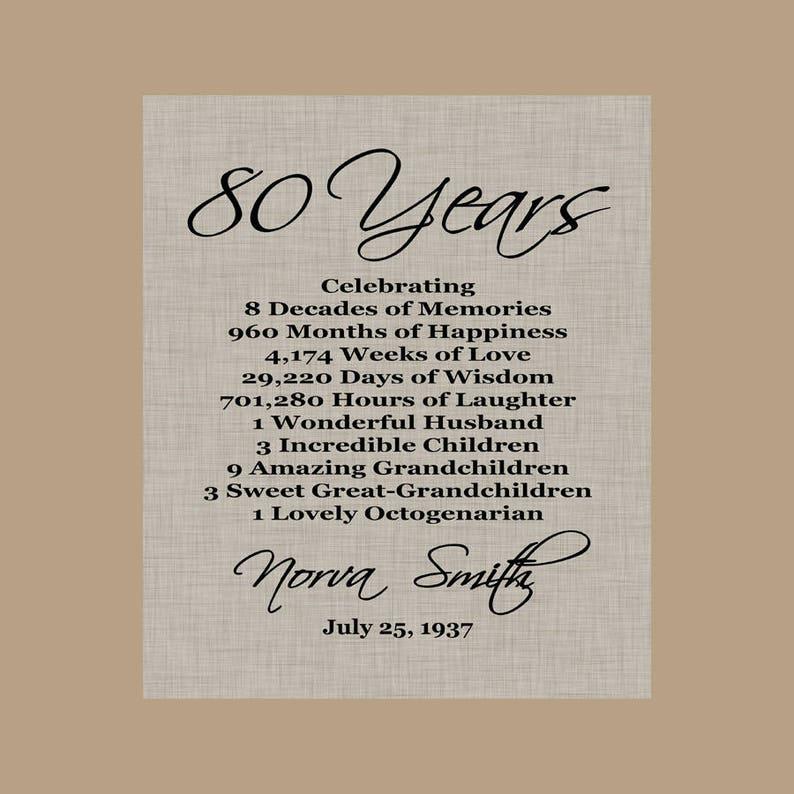 80 Compleanno Stampa Regalo Regalo Di Compleanno Del 1939 Etsy