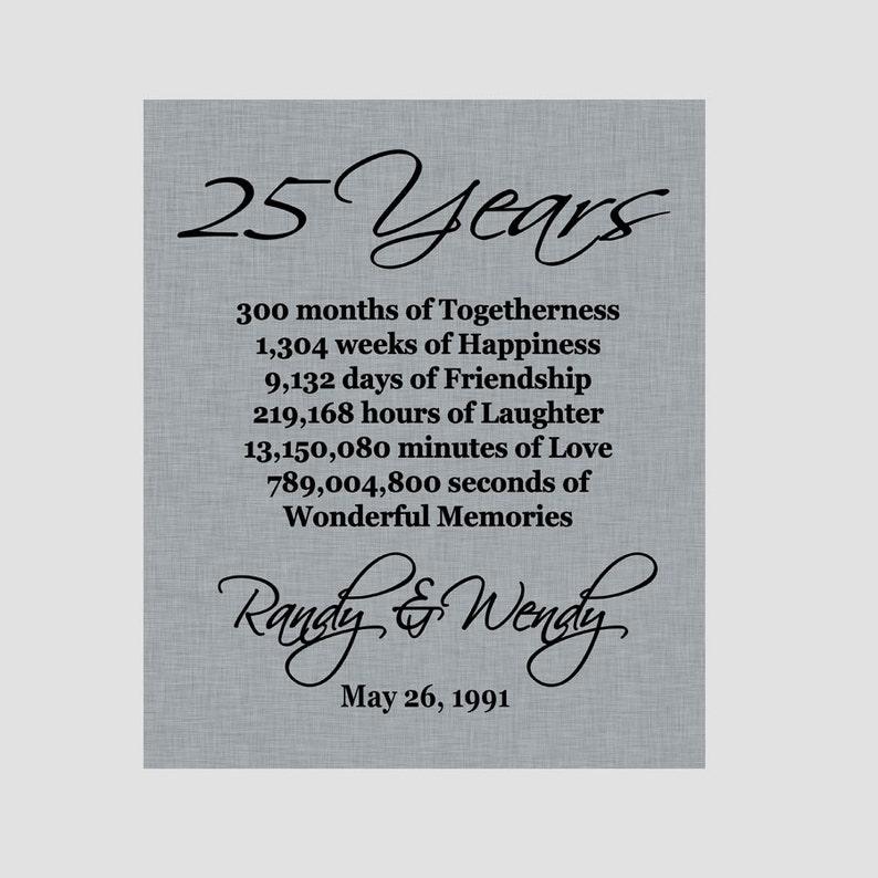 25 Anniversario Anniversario D Argento Genitori Etsy