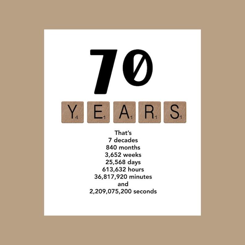 70th Birthday Card Milestone The Big 70