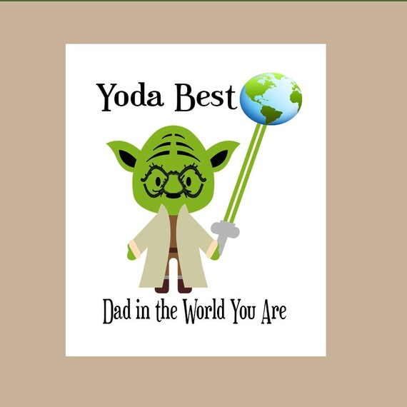 Star Wars Dad Birthday Card Star Wars Fathers Day Card Etsy