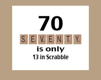 70th Birthday Card, Milestone Birthday, 70th Birthday, Scrabble Birthday Card, Scrabble, The Big 70, 1951 Birthday Card