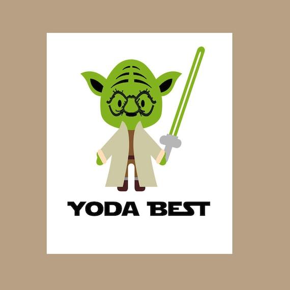 Star Wars Yoda Beste Karte Yoda Du Bist Die Beste Karte Etsy