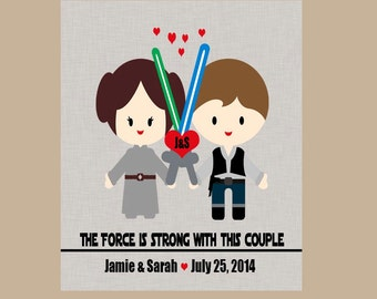 Star Wars Wedding Gift - Star Wars Anniversary Gift - Geek Wedding Gift - Nerd Wedding Gift