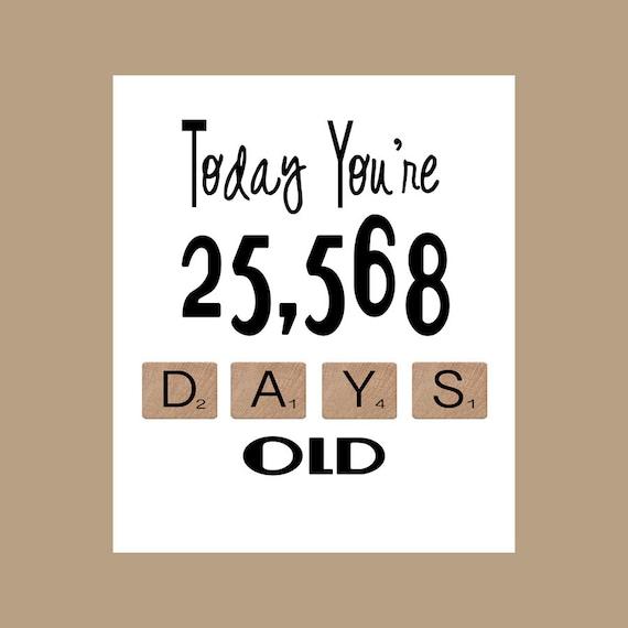 70th Birthday Card The Big 70 Age Card 70 Birthday 70 Etsy