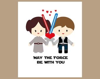 Star Wars Wedding Card, Star Wars Wedding Gift, Geek Wedding Card, Wedding Card for Couple, Nerd Wedding Card, Star Wars Valentine Card