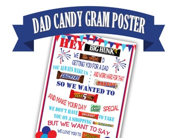 candy bar poster for significant other birthday gift for etsy