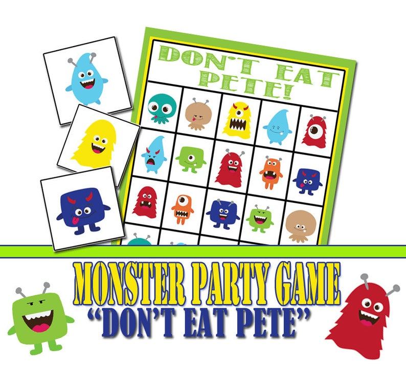 image about Don T Eat Pete Printable referred to as Monster Birthday Occasion Video game, Dont Try to eat Pete, Community Recreation, Monster Birthday, Monster Get together Activity, Preschool Video game, Monster Printable Sport