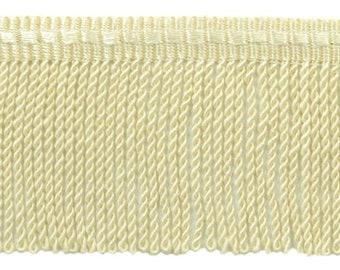 8 Yard Value Pack|3 Inch long Sandstone Light Beige Thin Bullion Fringe Trim|Style# BFTC3 Color C12 24 Ft  7.3 Meters