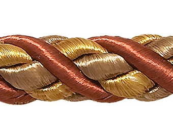 9 Yard Value Pack Large Two Tone Gold Baroque Collection 7//16 inch Cord with Lip Style# 0716BL Color Mixed Gold 8633B 27 Ft // 8 Meters