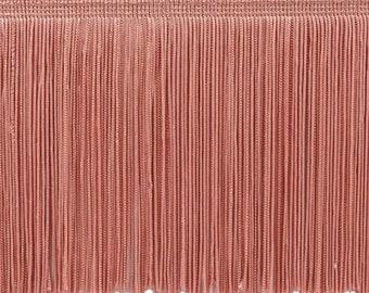 Precut 20 Yard 4in Stretch Chainette Fringe Trim Hot Pink