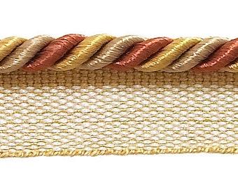 "Orange Gold Pink 7//16/"" Decorative Rope Cord Cinnamon Toast 10 Yards"