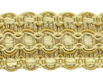 "Rosebraid antique gold//green  1//4/"" Braid price for 1 yard"