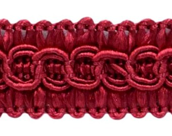 30 Ft // 9.1 Meters Style# FGS Color: RED D/ÉCOPRO 10 Yard Value Pack of 1//2 inch Basic Trim French Gimp Braid E13
