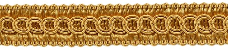 C4 Gold 54 Yard Package of 12 Basic Trim Decorative Gimp Braid Style# 0050SG Color