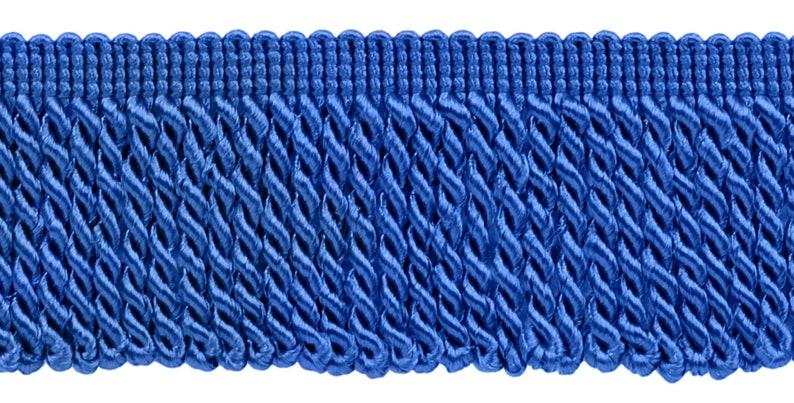 I6 10 Yard Value Pack of 2.5 Inch ROYAL BLUE Bullion Fringe Trim Style# EF25 Color: Cobalt BLUE 30 Ft  9.5 Meters