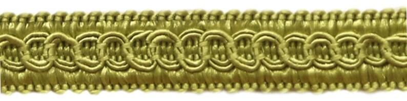 Style# 0050SG Color CELEDON Green G6 54 Yard Package of 12 Basic Trim Decorative Gimp Braid