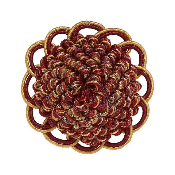 RUST GOLD Baroque Collection Gimp Braid 1//2 Style# 0050BG Color CINNAMON TOAST Sold by The Yard 6122