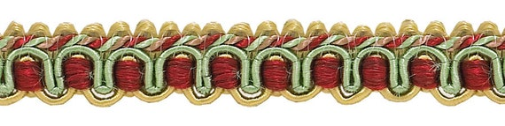 D/ÉCOPRO 9 Yard Value Pack of Burgundy Red 27 Ft // 8 Meters Gold 1//2 inch Imperial IIGimp Braid Style# 0050IG Color: Burgundy Gold 1253