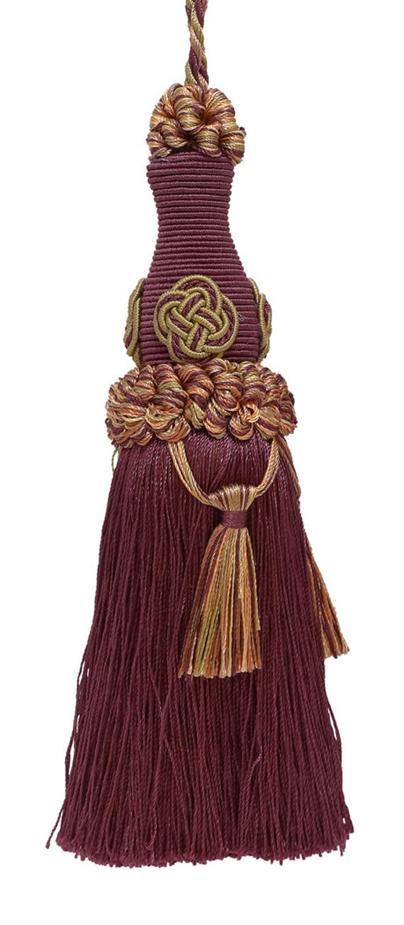 """Plum Purple Lt 3.5/"""" Loop  Style# NKT Elegant Key Tassel // 4/"""" tassel"""