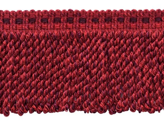 "Celadon|7/"" Chainette Bullion Fringe| Champagne 5 Yards Crimson"