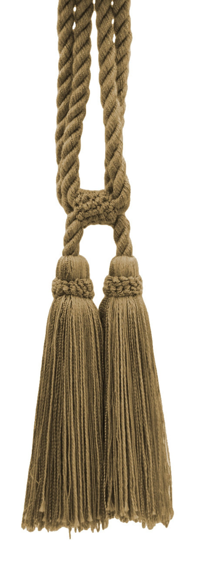 Beautiful Camel Gold Curtain /& Drapery Double Tassel Tieback|5 12 tassel|27  Spread |38 Cord|Style# TBC055 embrace