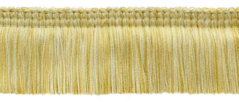Yellow Peach W94 24 yard Package  Lush 2 Brush Fringe Trim  Vanilla Champaigne  Style# 0200EMPBPU  Color