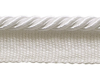 "Small 3/16"" White, Basic Trim Lip Cord, Sold by The Yard , Style# 0316s Color White - A1"