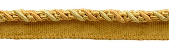 Olive Garden D/ÉCOPRO Large 7//16 inch Olive Green Light Gold White Noblesse Collection Lip Cord Style# 0716H Color: 010 Sold by The Yard