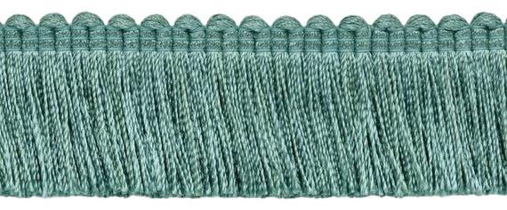 Style# BFS6 Color: Ocean Blue D/ÉCOPRO 6 Inch Long Light Aqua Blue Bullion Fringe Trim M17 Basic Trim Collection Sold by The Yard