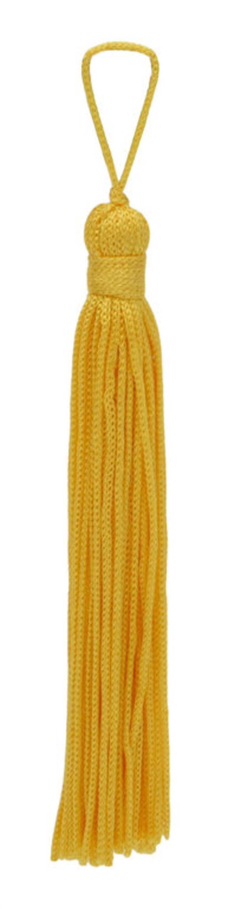 Set of 10 Flag Gold Chainette Tassel Basic Trim Collection Style# RT04 ColorFlag Gold 4 Inch Long with 1 Inch Loop