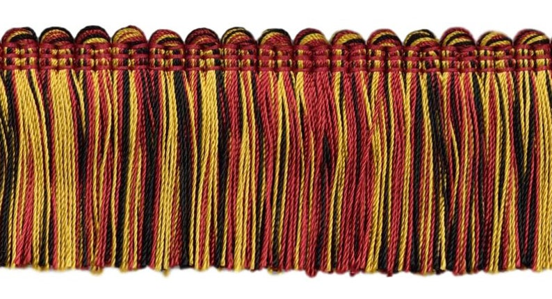 """Black 3.75/"""" Red Gold Tassel Fringe w//Rosettes Scarab