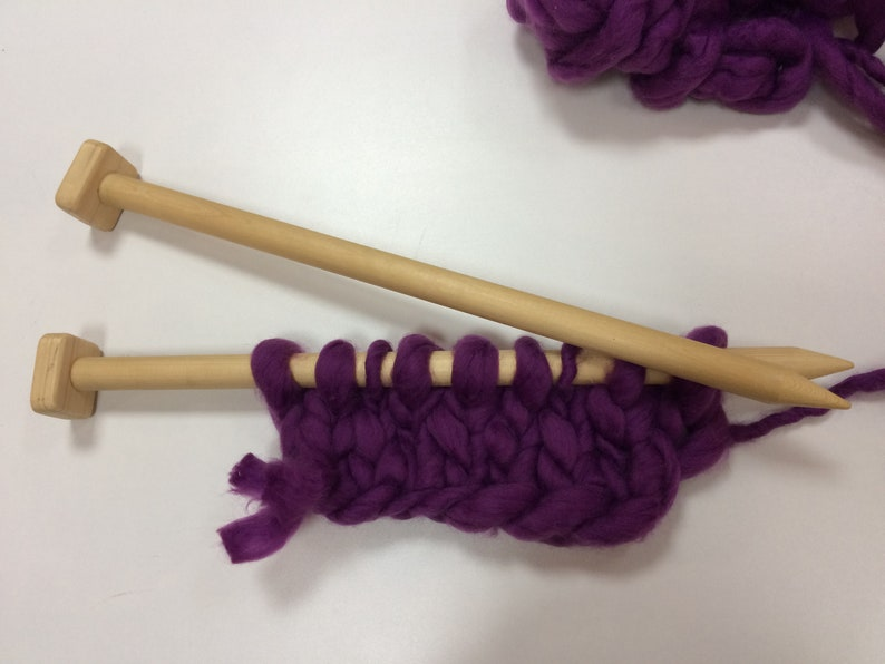 US Size 36 Wood Knitting Needles Length  0.83 inch  in diameter Giant Knitting Needles Big wooden knitting needles 21 mm