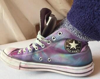 f3a24e1d3f Tie dye converse High tops - UK size 10