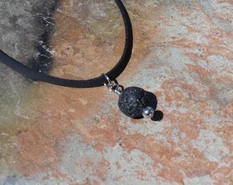 Minimalist Diffuser Necklace, Unisex Oil Diffuser, Lava Jewelry, Aromatherapy Pendant, Lava Necklace, Essential Oils Aromatherapy Jewelry
