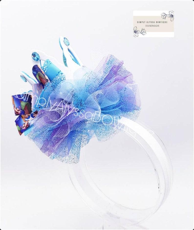 5.5W 5.5 L Handmade Alice in wonderland Inspired glitter foam crown with pearls,rhinestones on an Elastic headband