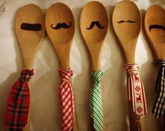 Set of 5 Mustache Spoons