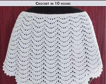 ANGELS AFLUTTER Crochet Shawl Pattern [Digital File Download]