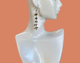 Dangling earrings, colorful earrings, gemstone earrings, statement earrings, boho earrings, handmade earrings, beach style earrings